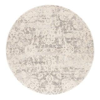 Cheyenne Abstract Gray/ White Round Area Rug