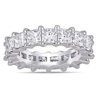 Miadora White Platinum 5 1 4ct TDW Princess Cut Diamond Eternity Band Ring