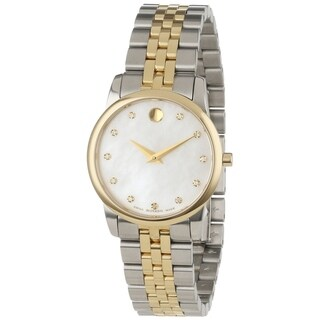 Link to Movado Women's 0606613 'Museum' Diamond Two-Tone Stainless Steel Watch Similar Items in Women's Watches