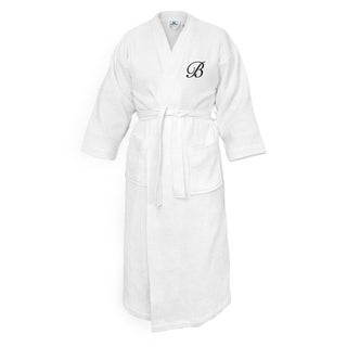 Kaufman Terry Cloth Bathrobe 100 Cotton FREE INITIALS  Embroidered Waffle Kimono.