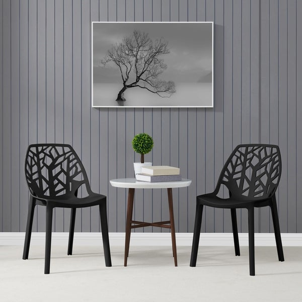 Delicieux Havenside Home Espenberg Armless Indoor/Outdoor Resin Modern Tree Dining  Chairs (Set Of 2