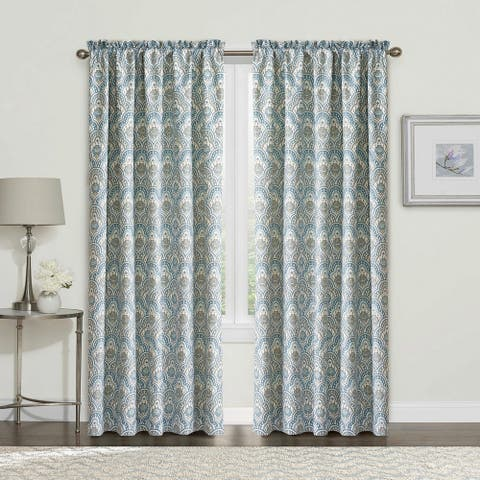 "Serenta Mini Tivoli Printed 2 Piece Curtain Set - 60"" x 84"""