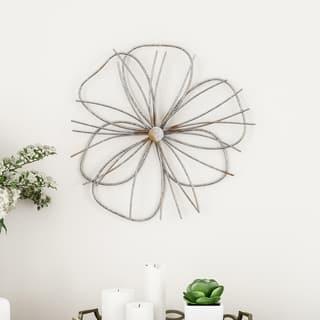 Carson Carrington Flower Sculpture Contemporary Art Wall Decor