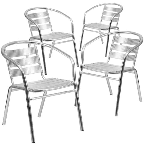 Aluminum Slat Back Chair