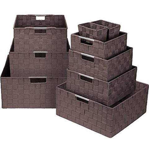 Weave 9 Piece Basket Set