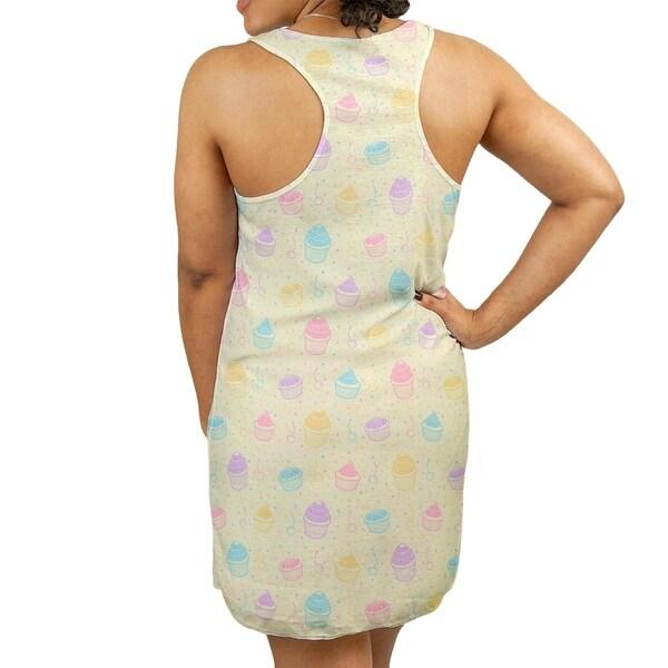 35af4a105d39 Shop Katelyn Elizabeth Yellow Multicolor Cupcake Pattern Women's Racerback Tank  Dress - Free Shipping Today - Overstock.com - 27390237