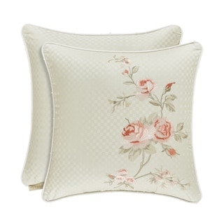 Five Queens Court Lorraine Cotton 16 Inch Decorative Throw Pillow