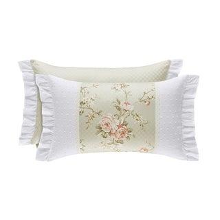 Five Queens Court Lorraine Cotton Boudoir 12x20 Decorative Throw Pillow
