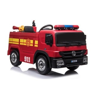 12 Volt Battery Operated Fire Truck - Red