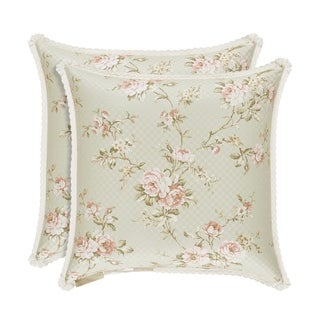 Five Queens Court Lorraine Cotton 20 Inch Decorative Throw Pillow