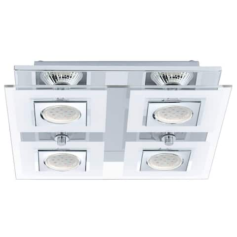 Eglo Cabo Ceiling Light with Matte Nickel Finish