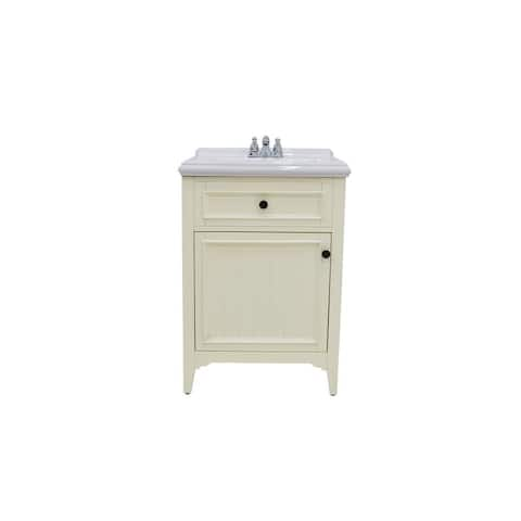 222 Fifth Rustic White Bathroom Vanity