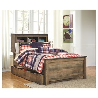 Trinell Bookcase Bed with Trundle Storage