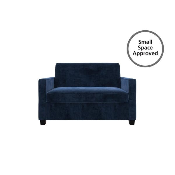 Groovy Shop Avenue Greene Camilla Blue Velvet Twin Loveseat Sofa Andrewgaddart Wooden Chair Designs For Living Room Andrewgaddartcom