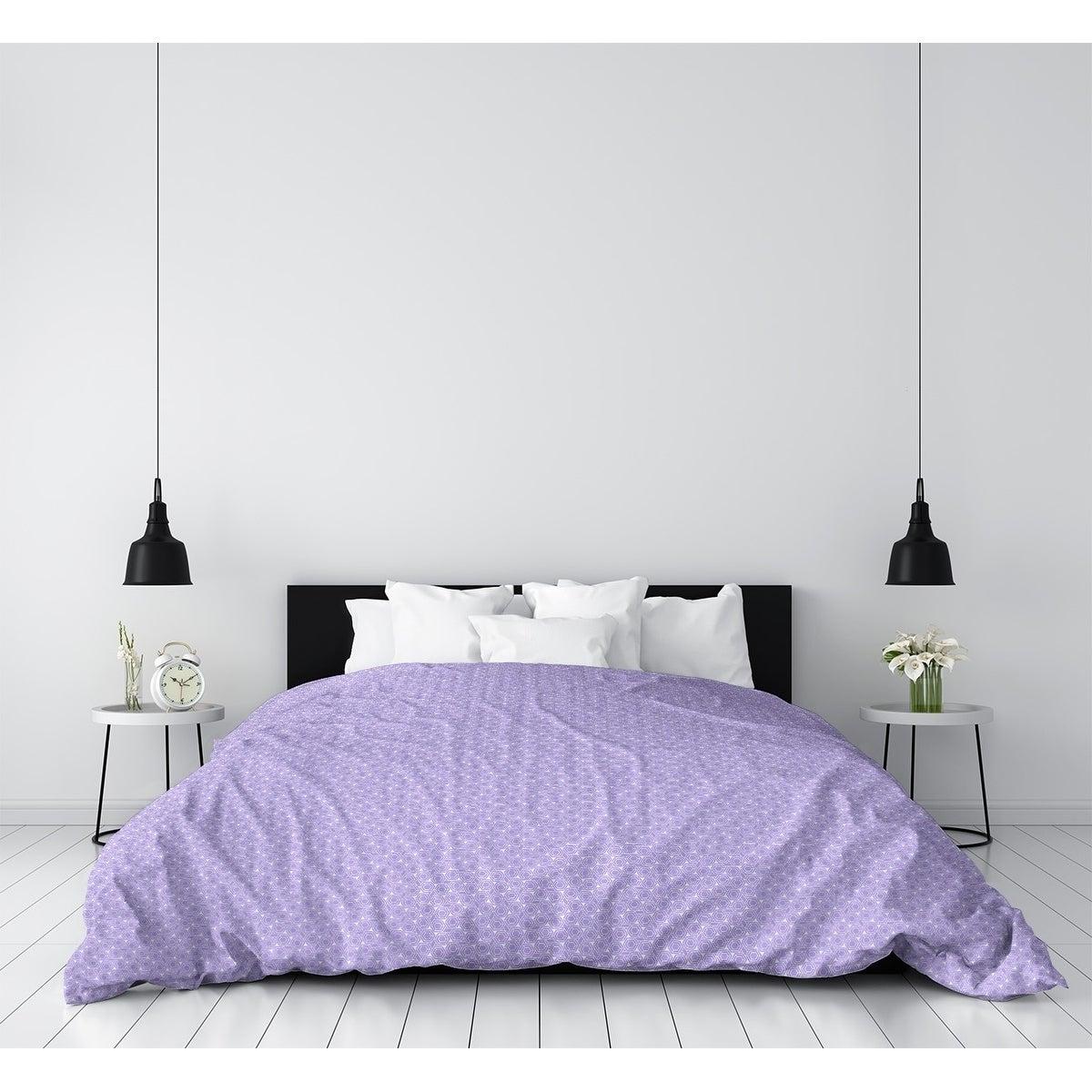 Katelyn Elizabeth Pastel Purple Hexagonal Lattice Duvet Cover Overstock 27392132