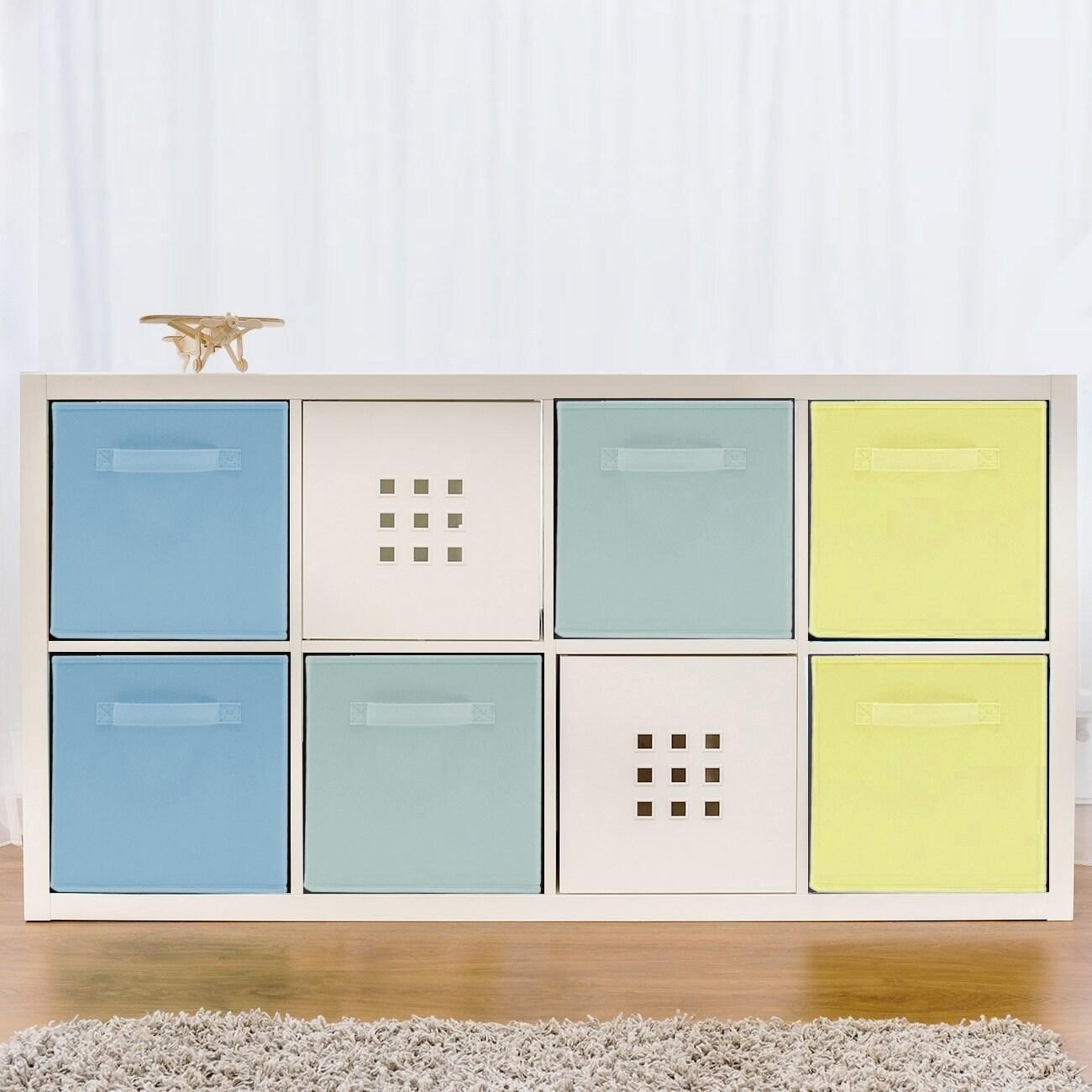 Home Storage Bundle Pastel Drawer and Closet Bins Blue Green Yellow 6 Pack 11d3af56 0556 45f2 89e8 cc5501a1bb5b