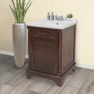 222 Fifth Madison Brown Bathroom Vanity