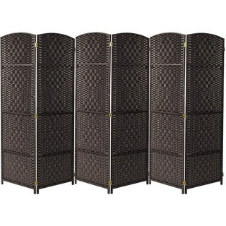 Extra Wide - Diamond Weave Fiber Room Divider, 6 Panel