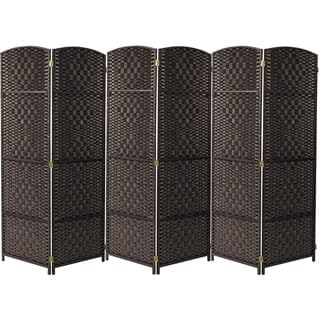Extra Wide - Diamond Weave Fiber Room Divider, 6 Panel