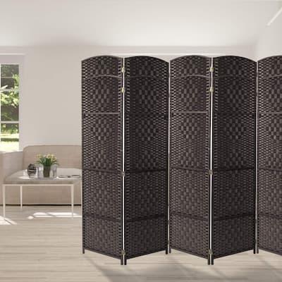 Extra Wide - Diamond Weave Fiber Room Divider, 8 Panel