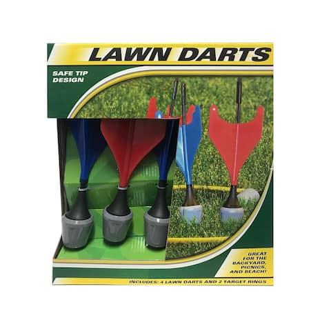 """Lawn Darts - Blue - 3.7""""Lx3.7""""Wx11""""H"""