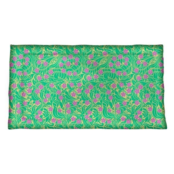 new styles e5a43 46eeb Shop Katelyn Elizabeth Yellow Green   Purple Swirly Floral Pattern Pillow  Sham - Microfiber - Multi - Free Shipping Today - Overstock - 27393254