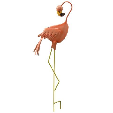 National Tree Company Spring Decor Peach Flamingo