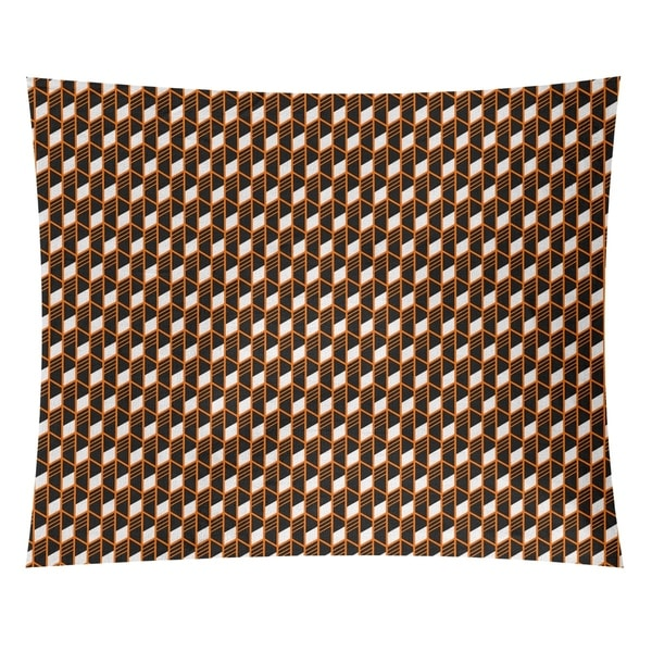 Katelyn Elizabeth Orange Geometric Stripes Tapestry