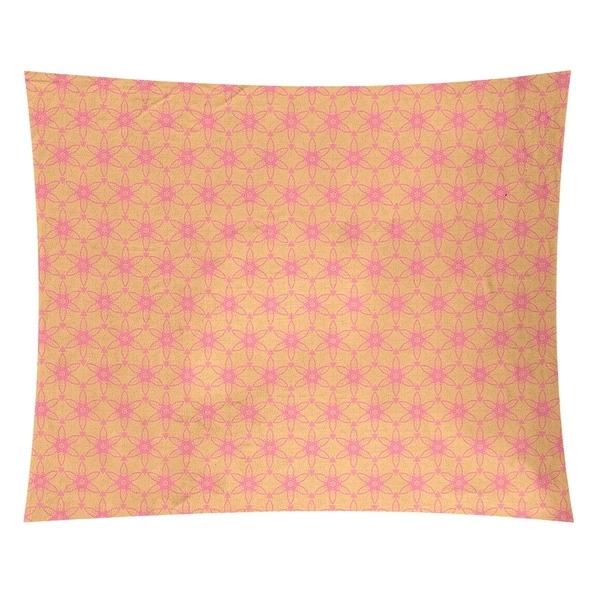 Katelyn Elizabeth Yellow & Pink Ornate Circles Tapestry