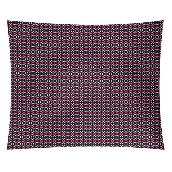 Katelyn Elizabeth Black & Pink Arrow Diamonds Tapestry