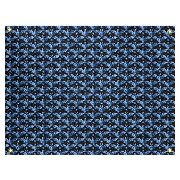 Katelyn Elizabeth Blue Bats Pattern Tapestry In/Out