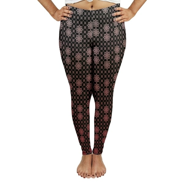 df3c04833 Shop Katelyn Elizabeth Red Ombre Lattice Leggings - Free Shipping Today -  Overstock - 27395789