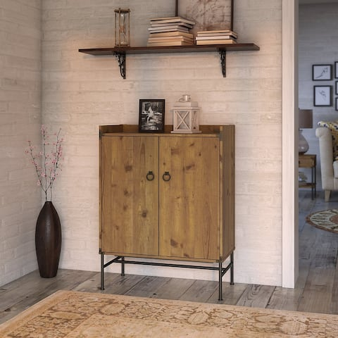 Ironworks Bar Cabinet from kathy ireland Home by Bush Furniture