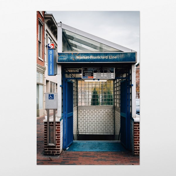 Noir Gallery Old City Philadelphia Subway Photography Unframed Art Print/Poster