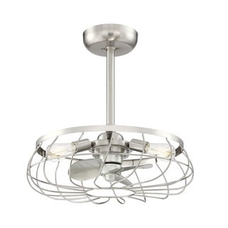 Santiago 3-light LED Brushed Nickel Ceiling Fan