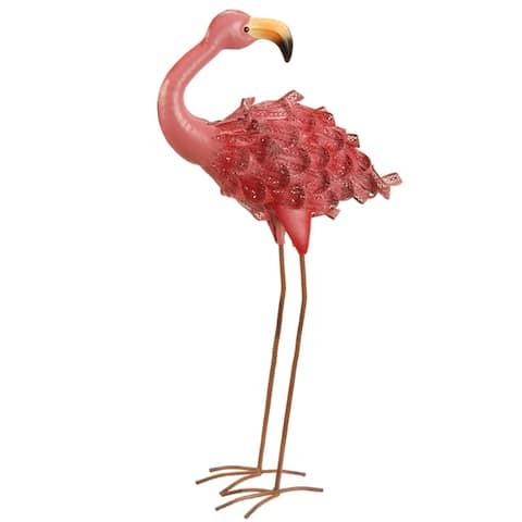National Tree Company Metal 30-inch Spring Decor Pink Flamingo