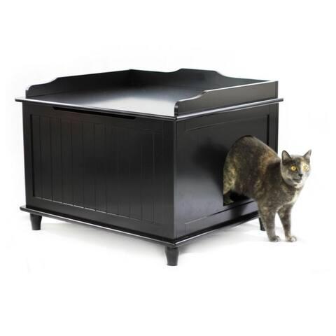 Jumbo Designer Catbox Litter Box Enclosure in Black