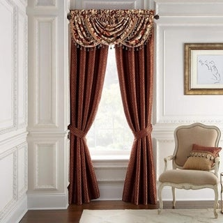 Croscill Arden Red Woven Panel Pair Curtains