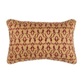"Croscill Arden 18x12"" Embroidered Boudoir Pillow"