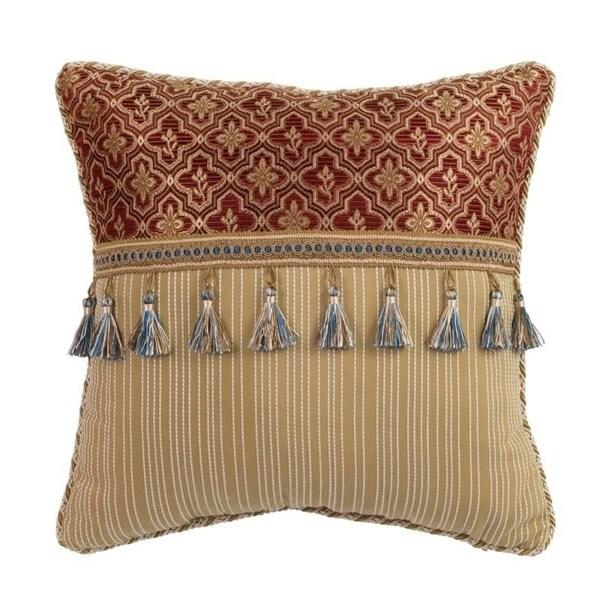 "Croscill Arden 16"" Tassel Trimmed Fashion Pillow"