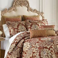 Croscill Arden Red Chenille 4 Piece Comforter Set