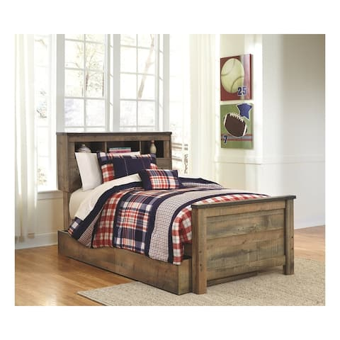 Trinell Twin Bookcase Bed with Trundle Storage
