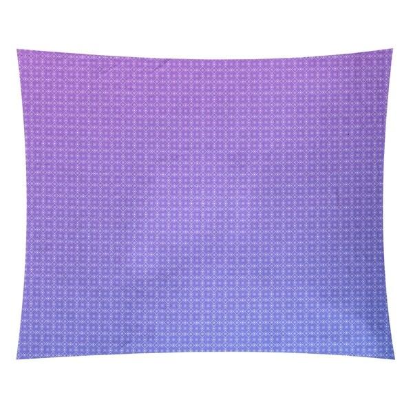 Katelyn Elizabeth Blue & Purple Doily Pattern Tapestry
