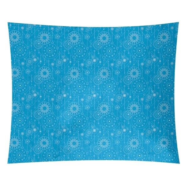Katelyn Elizabeth Blue Astrology Pattern Tapestry