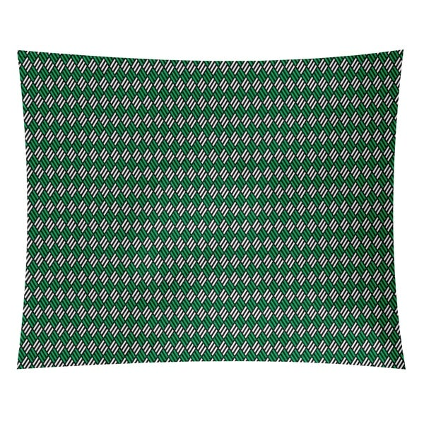 Katelyn Elizabeth Black & Green Stripe Diamonds Tapestry