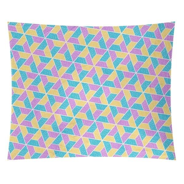Katelyn Elizabeth Blue Yellow & Purple Trapezoids Tapestry