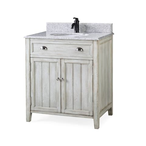 "32"" Benton Collection Benedetta Distressed Rustic Bath Vanity"