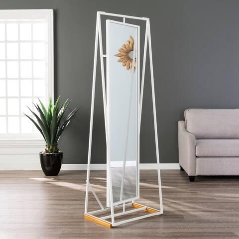 Porch & Den Winnebago White Full-length Standing Mirror
