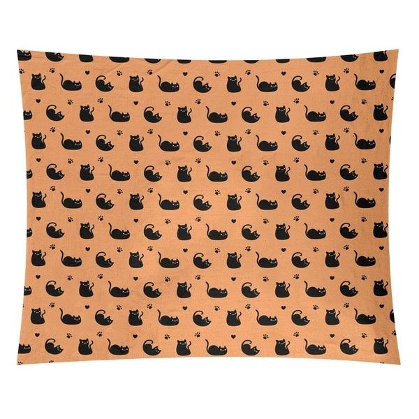 Katelyn Elizabeth Orange Cat Pattern Tapestry
