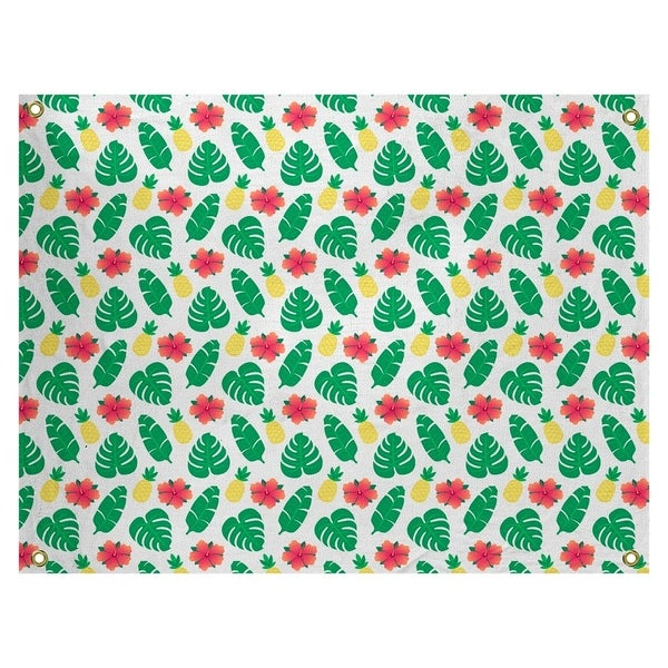 Katelyn Elizabeth White Tropical Pattern Tapestry In/Out